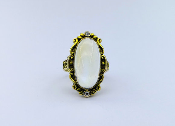 14ct Oval Moonstone Ring by Marcus & Co