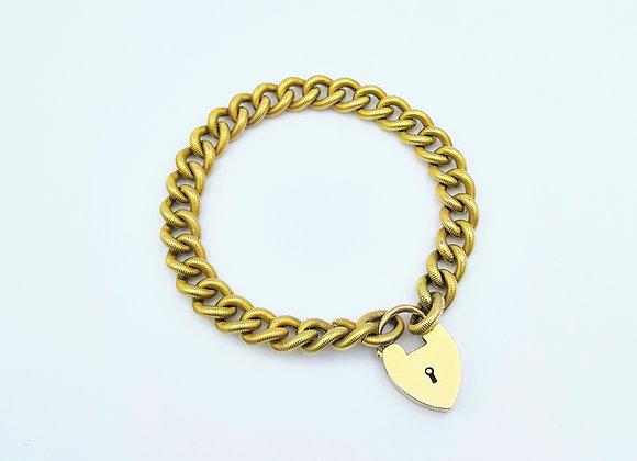 18ct Yellow Gold Textured Link Bracelet
