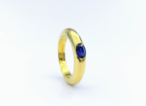18ct Blue Sapphire Gypsy Ring by Cartier