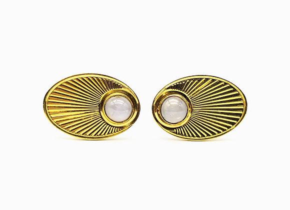 14kt Star Sapphire Cufflinks c1950