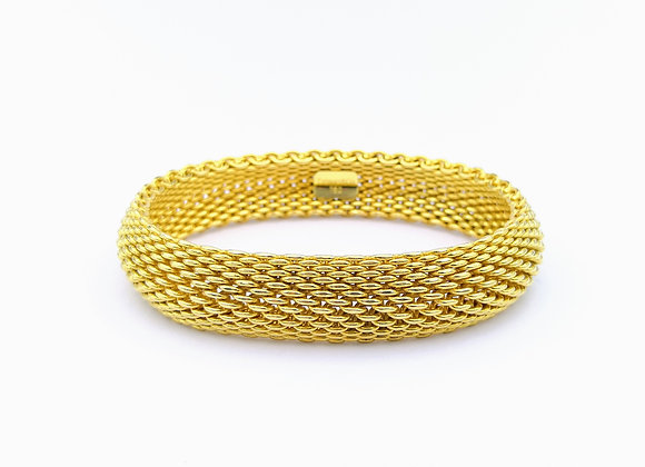 18ct Woven Design Bangle by Tiffany