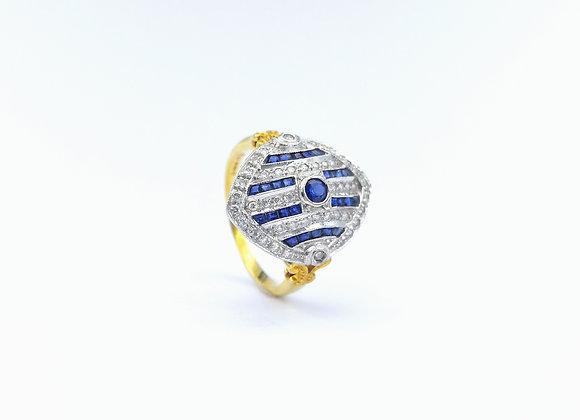 18ct Sapphire & Diamond Marquise Dress Ring