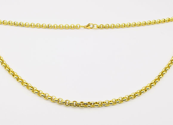 9ct Solid Round Link Necklace
