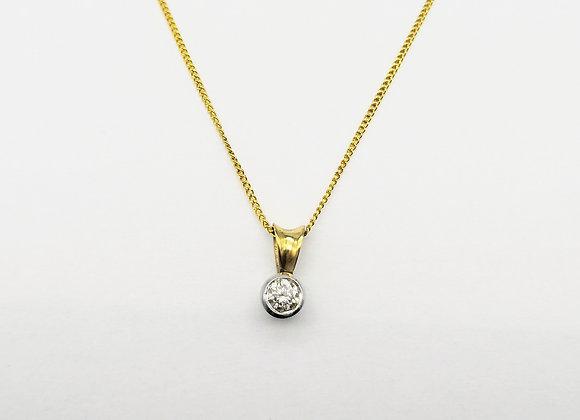 9ct Brilliant Diamond 0.20ct Pendant