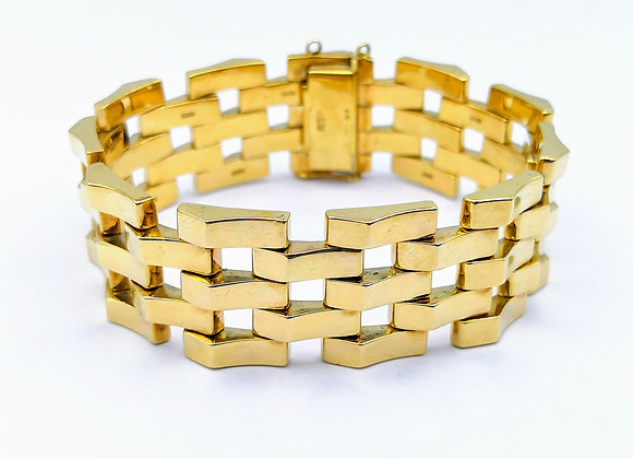 Yellow Gold Bracelet With Articulated Links