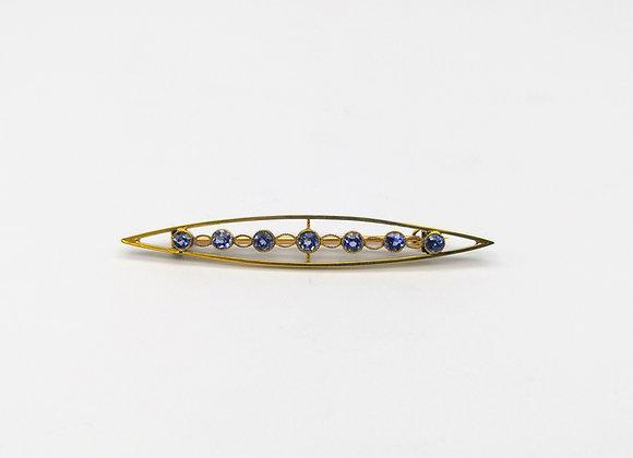 Edwardian 15ct Sapphire Oval Brooch