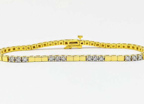 18ct & Diamond Set Line Bracelet