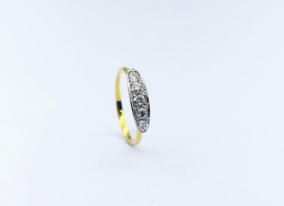 15ct Edwardian 5 Stone Diamond Ring