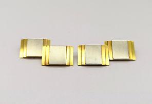 18ct 2 Colour Gold Art Deco Cufflinks.jp