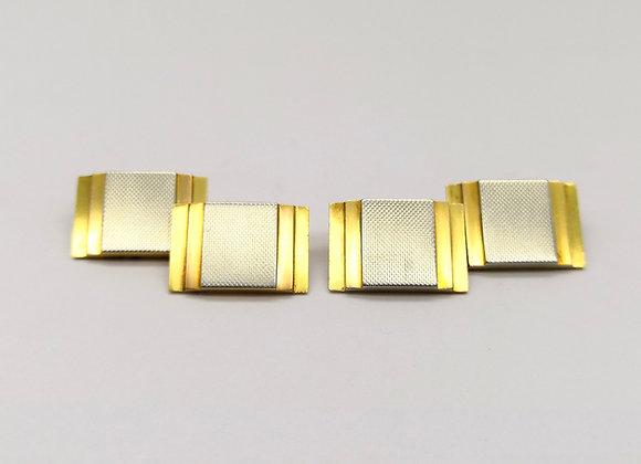 18ct 2 Colour Gold Art Deco Cufflinks
