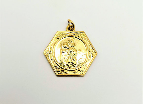 9ct  St Christopher Charm