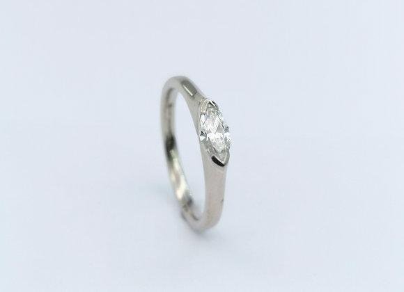 Platinum Marquise Diamond Single Stone Ring