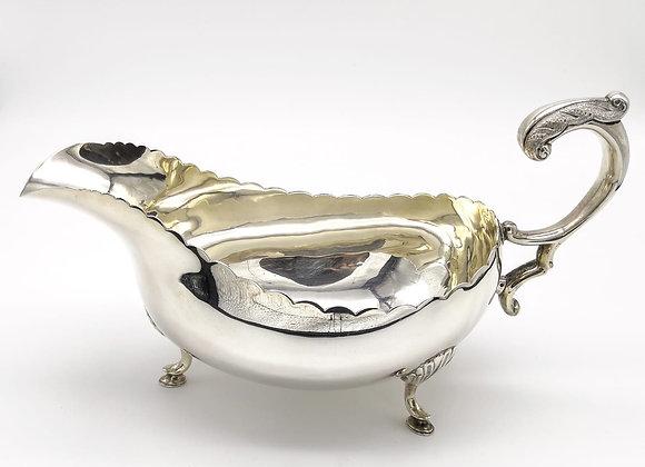 Irish Silver Sauce Boat
