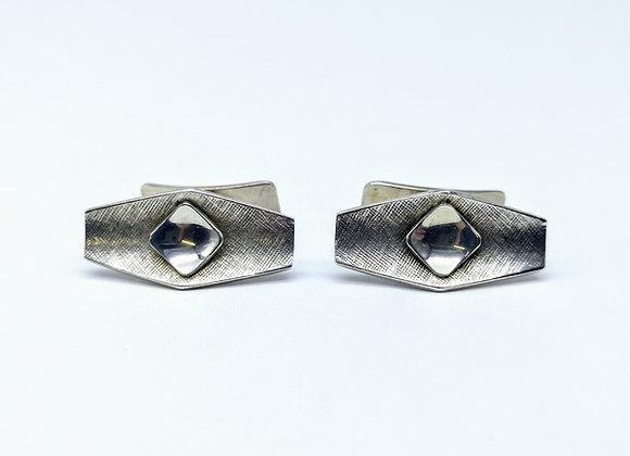 Silver Textured Design Scandinavian CufflinkS