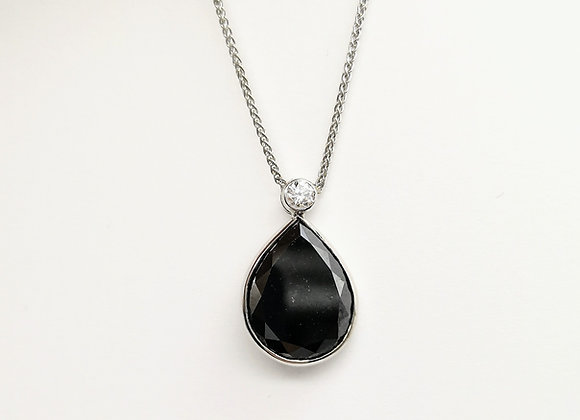 18ct Pear Black Diamond 5ct Pendant