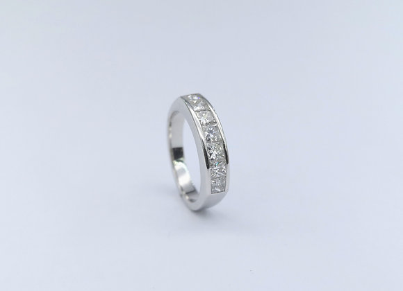 18ct Square Diamonds Channel Set Eternity Ring