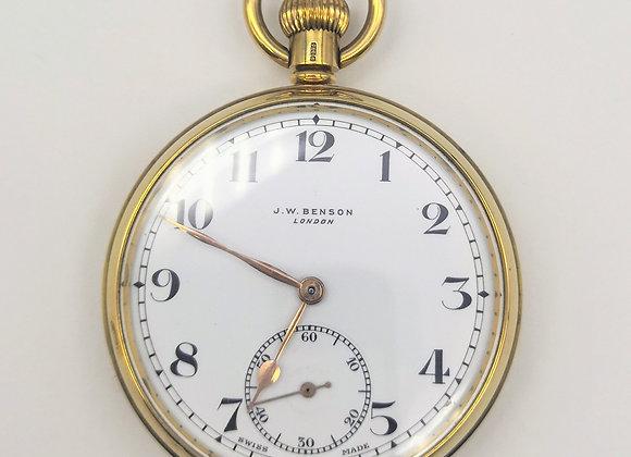 9ct Pocket Watch by JW Benson  1934