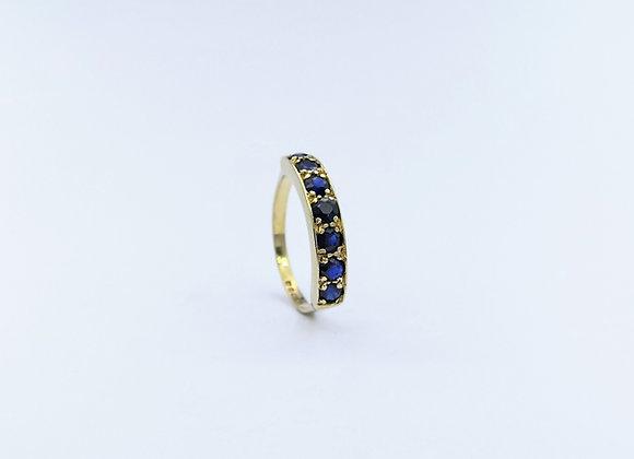 9ct Sapphire Half Eternity Ring