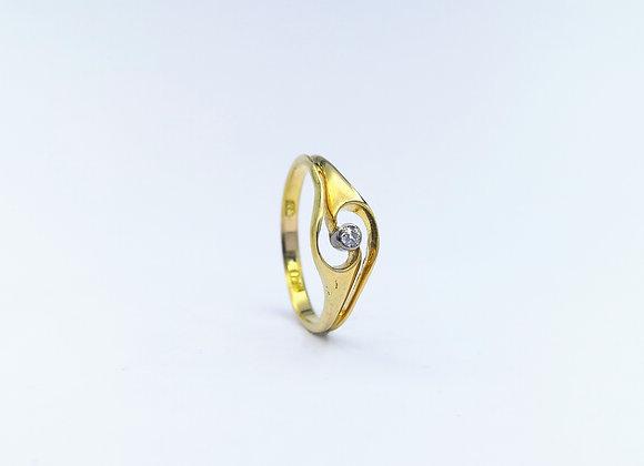 18ct Diamond Ring By Murrle Bennett & Co