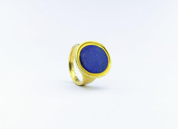 18ct Lapis Lazuli Oval Ring