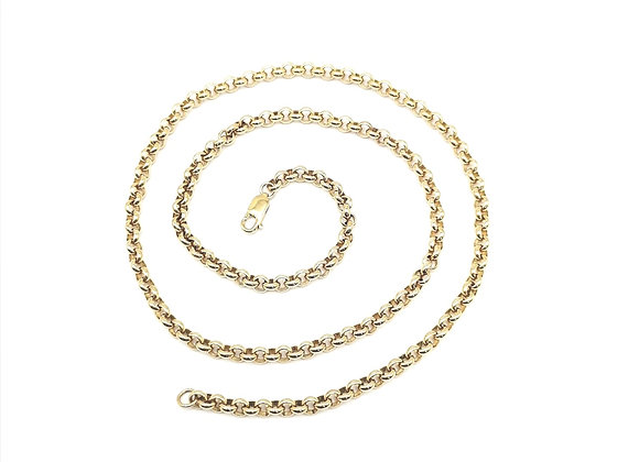 9ct Round Link Chain Necklace