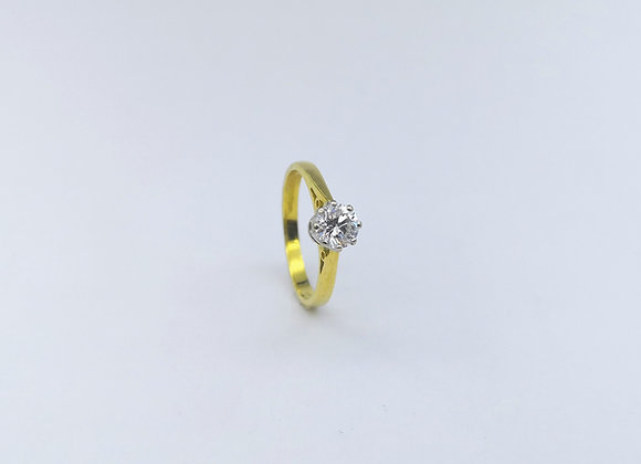 18ct Single Stone Brilliant Cut Diamond Ring
