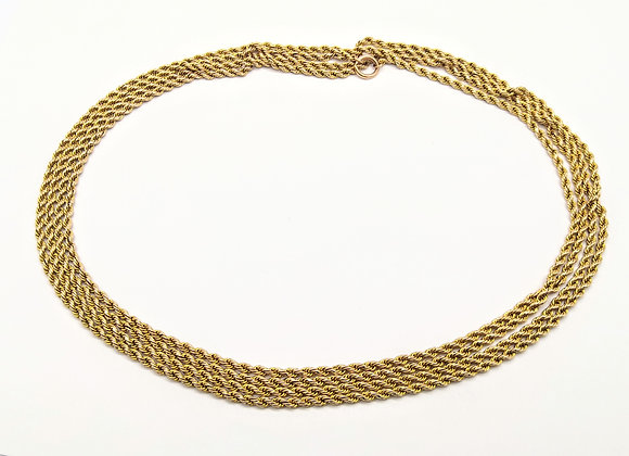 9ct Woven Gold Chain 56 inch