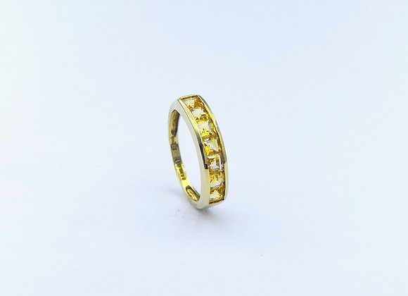 9ct 7 Stone Citrine Channel Set Ring