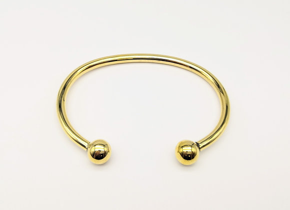 18ct Bangle With Round Terminals