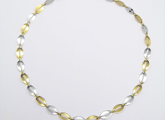 9ct Oval Flat Link Necklace