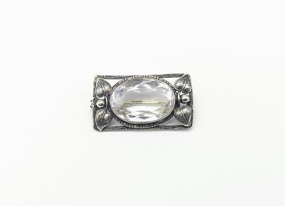 Silver Bernard Instone Crystal Brooch