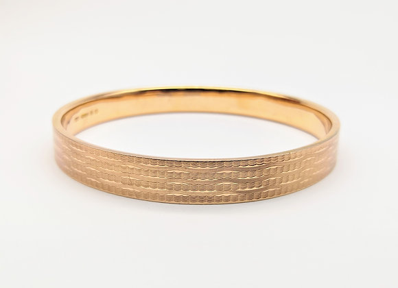 9ct Red Gold Bangle