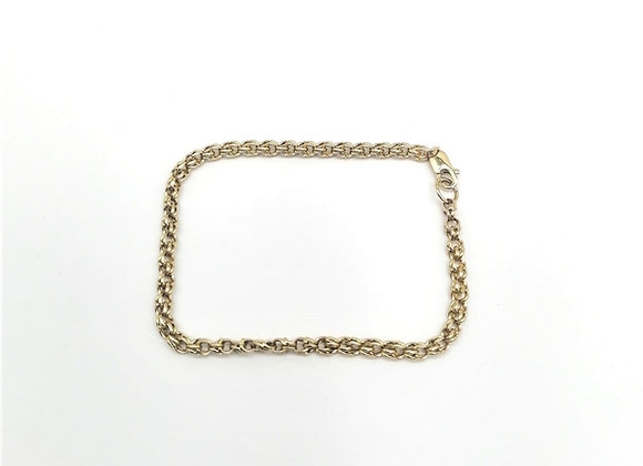 18ct Double Links Bracelet