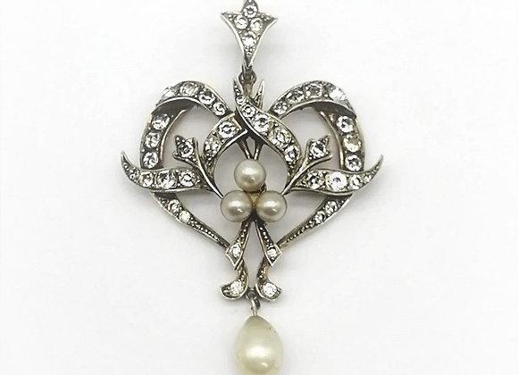 Art Nouveau Crystal Pendant