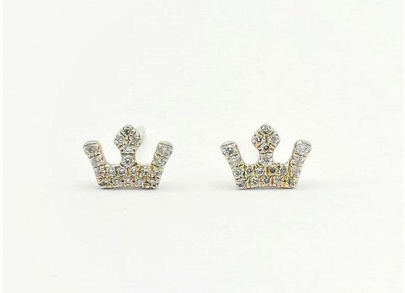 14ct Diamond Crown Earrings