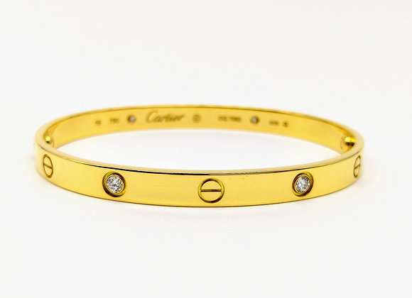 18ct Diamond Set Cartier Bangle.