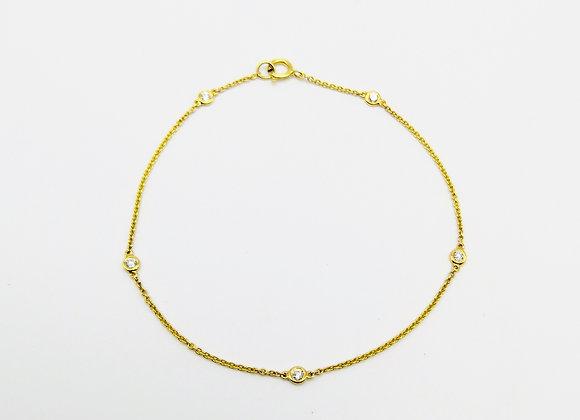 18ct Diamond Set Fine Bracelet