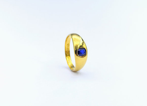 22ct Oval Sapphire Gypsy Ring