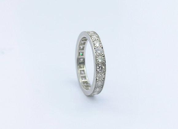 Platinum Brilliant Cut Diamond Channel Set Eternity Ring