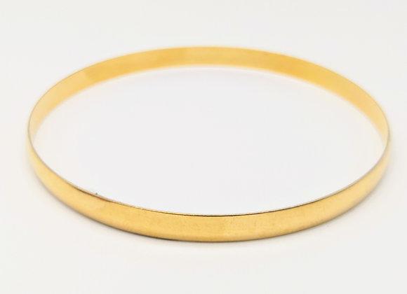 A 9ct Yellow Gold Plain Bangle