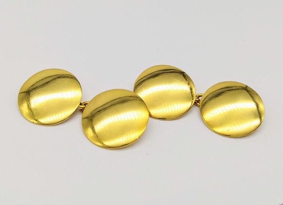 18ct Victorian Domed Circular Cufflinks