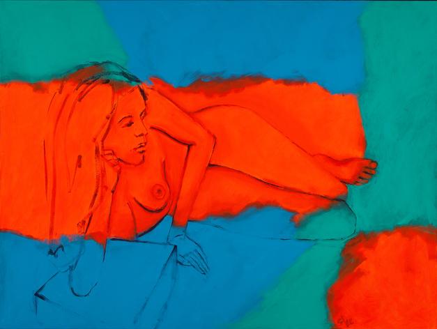 Figure in Orange 36x48