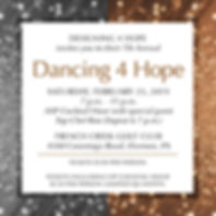 7th Annual Dancing 4 Hope Announcement B