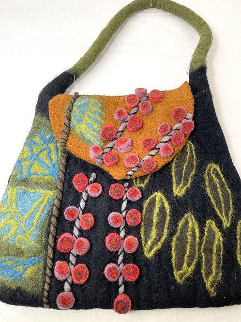 SOLD - Fair Trade Needle Felted Handbag