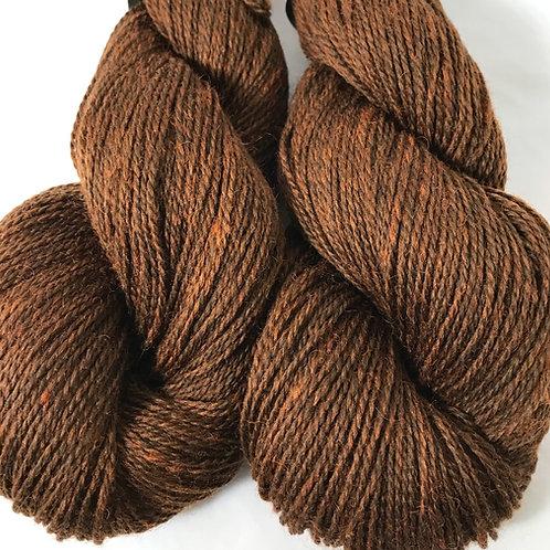 Peanut Butter Cup Fingering Weight Wool Yarn - Hoof-To-Hanger