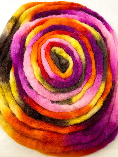 4 oz. Circus Candy Hand Dyed Roving - Hoof-To-Hanger