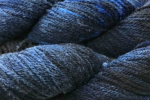 Variegated Navy Worsted Weight Yarn - Hoof-To-Hanger