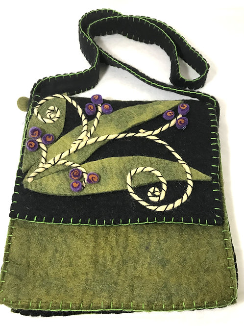 Fair Trade Needle Felted Handbag