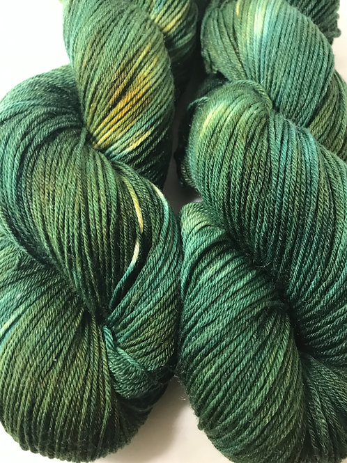 Variegated Avocado Fingering Weight Merino/Nylon/Tencel SW Yarn - Hoof-To-Hanger