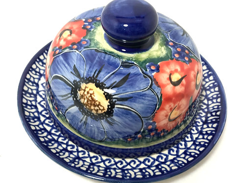 Covered Cheese or Butter Dish - Polish Pottery